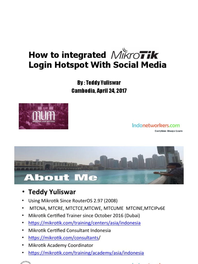 How to integrated Login Hotspot With Social Media: By: Teddy