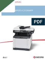 Bedienungsanleitung FS-C2026MFP/FS-C2126MFP Deutsch