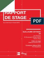 Rapport de stage Guillaume Ceyssac 2AWD