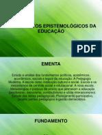 Fundamentos Epistemológicos Da Educação