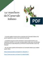 Le Maschere Del Carnevale Italiano