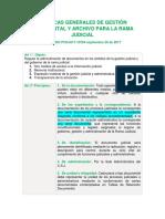 Políticas Generales de Gestión Documental y Archivo Para La Rama Judicial Acuerdo Pcsja17-10784 Septiembre 26 de 2017