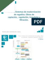 Presentación_M6T1_Sistemas de Modernización de Regadíos. Obras de Captación, Regulación, Impulsión y Filtración.