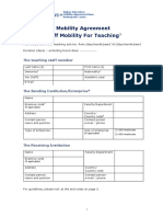 Staff Mobility for Teaching