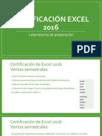 Certificación Excel 2 2016