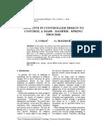 Adaptive Pi Controller Design