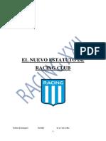 Proyecto Reforma - Estatuto Racing Club - 2019 RACING XXII