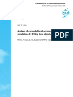 Analysis of Computational Aeroelastic Simulations by Fitting Time Signals