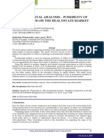 [23005289 - Real Estate Management and Valuation] Fundamental Analysis – Possiblity of Application on the Real Estate Market
