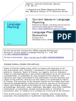 Current Issues in Language Planning Volume 4 Issue 1 2003 [Doi 10.1080_14664200308668048] Grin, François -- Language Planning and Economics