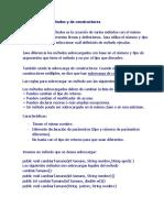 Sobrecarga de Métodos y de Constructores(1)