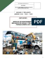 Informe Técnico Servicios de Mantenimiento Mecánico en Aguas y Relaves
