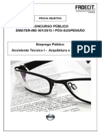 Caderno de Prova - Arquitetura e Urbanismo