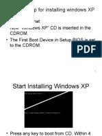 Installation of Windows XP