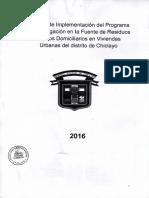 16acd0_informe de Implementacion Del Programa de Segregacion en La Fuente de Residuos Solidos Domiciliarios en Viviendas Urbanas de Chiclayo