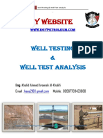 Well Test Analysis