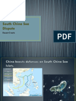 South China Sea Dispute (Recent Events)