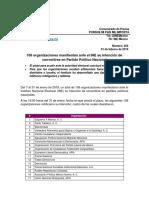 Organizaciones Manifiestan Ante El INE Su Intención de Convertirse en Partido Político Nacional