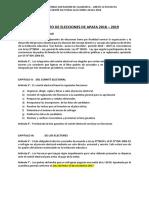Reglamento de Elecciones de Apafa 2018 San Ramón