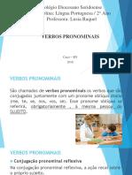 Verbos Pronominais - Professora Raquel