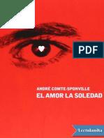 El Amor La Soledad - Andre ComteSponville