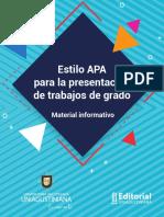 Estilo APA Para La Presentación de Trabajos de Grado