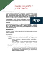 Procesos de Inducción y Capacitación