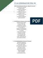 Poemas de La Generacion Del 98
