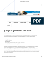 5 Ways to Generate a Sine Wave