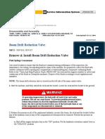 Boom Drift Reduction Valve
