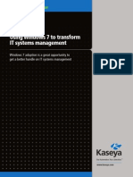 Windows 7 IT Management - Kaseya