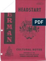German Headstart - Cultural Notes
