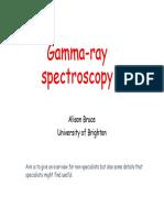 Alison Bruce - Gamma Spectroscopy