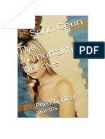 The Immortality of Love-Philosophical poems by Sorin Cerin