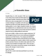 Case Study of Scientific Glass