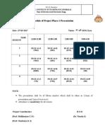 Phase 1 Schedule
