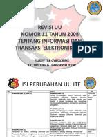 7 Point Revisi UU ITE