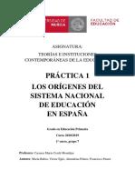 Orígenes del sistema nacional de educación en España