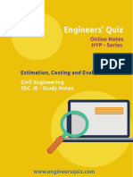 Estimation, Costing & Evaluation HYPE Series Study Notes