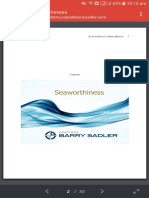 Oral Seaworthiness