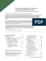 Guías de Práctica Clínica sobre el diagnóstico y tratamiento de la insuficiencia cardíaca aguda.