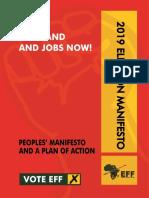 2019 EFF election manifesto