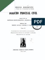 REDENTI, Enrico. Derecho Procesal Civil. Tomo II