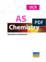 OCR as Chemistry Questions and Answers