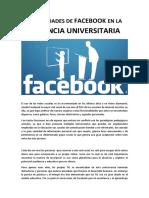 Posibilidades de Facebook en La Docencia Universitaria
