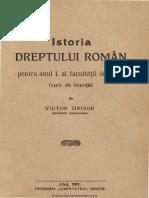 Istoria dreptului român - pentru anul I al facultăţii de drept -  (curs de licenţă), V. Onisor, 1921.pdf