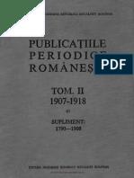 Publicaţiile periodice româneşti -  (ziare, gazete, reviste). Volumul 2  - Catalog alfabetic 1907-1918 - Supliment 1790-1906.pdf