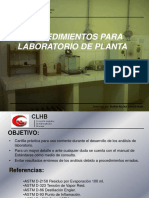 Procedimientos Para Laboratorio de Planta