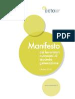 Manifesto dei lavoratori autonomi di seconda generazione