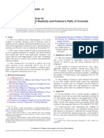 C469C469M-14 Standard Test Method for Static Modulus of Elasticity and Poisson's Ratio of Concrete in Compression